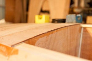 First layer bottom plank looking port aft
