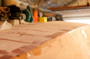 First layer bottom plank looking port forward