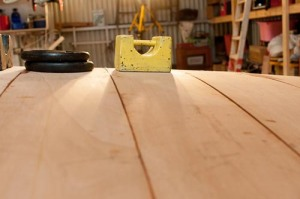 First layer bottom plank looking stbd to port