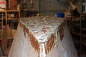 Last layer on, looking aft