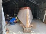 Cutting the building jig away